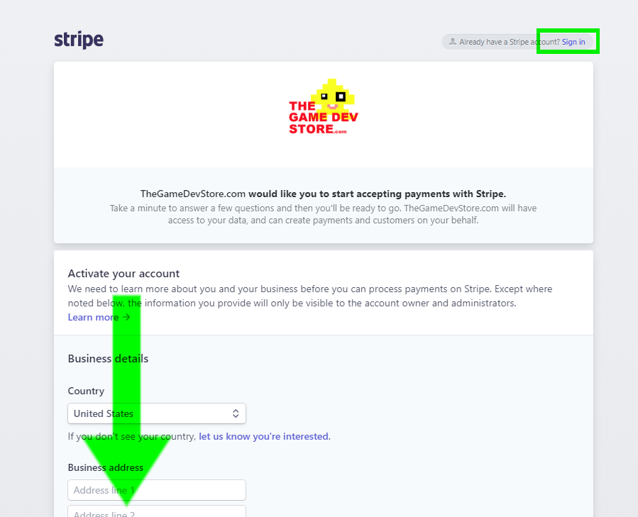 2. LOGIN OR SIGNUP WITH STRIPE