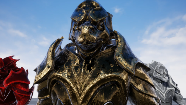 GLAMOUR: Enchanted Statue - Modular Static Mesh Armor Set (Gold)