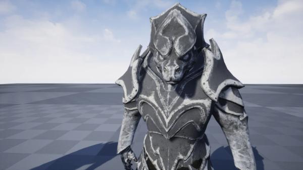 GLAMOUR: Enchanted Statue - Modular Static Mesh Armor Set (Stone)