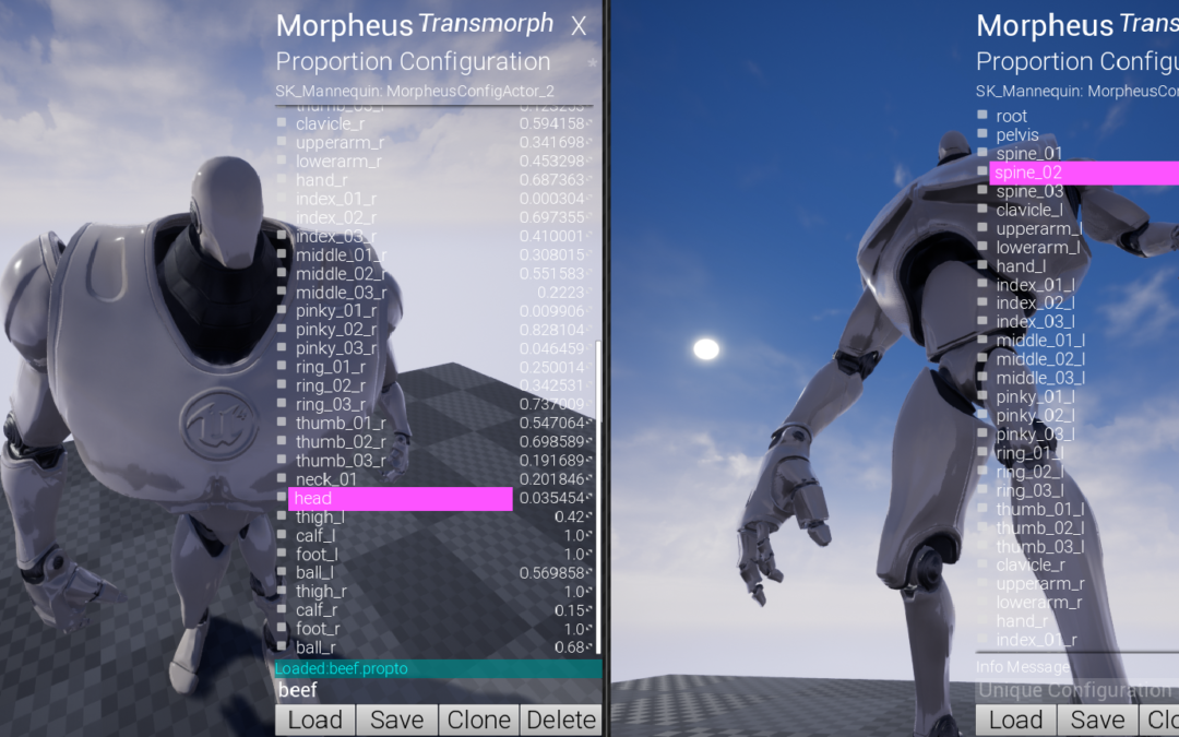 Transformorph Multiplayer Skeletal Mesh Customization