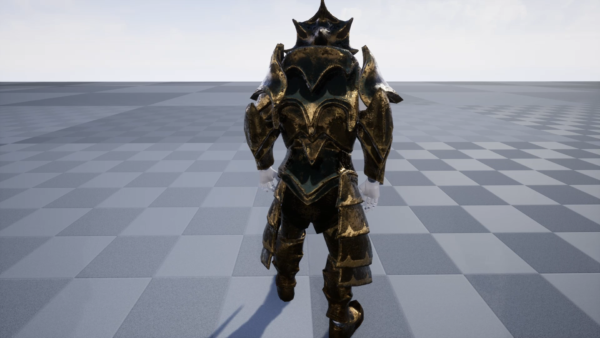 GLAMOUR: Enchanted Statue - Modular Static Mesh Armor Set (Rearview)