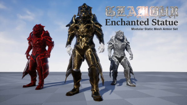 GLAMOUR: Enchanted Statue - Modular Static Mesh Armor Set